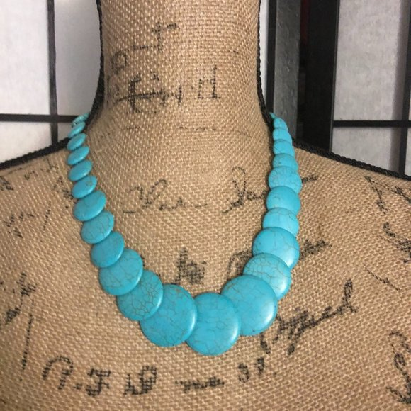 Paparazzi blue turquoise necklace